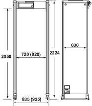 арочный металлодетектор CEIA 02PN10