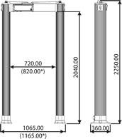 арочный металлодетектор CEIA HI-PEELLIPTIC