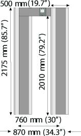 арочный металлодетектор METOREX Metor120
