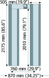 арочный металлодетектор METOREX Metor160