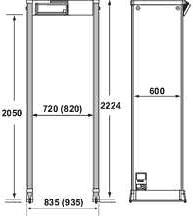 арочный металлодетектор CEIA PMD2/PTZ